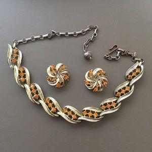 Vintage Lisner Choker Necklace Earring Set